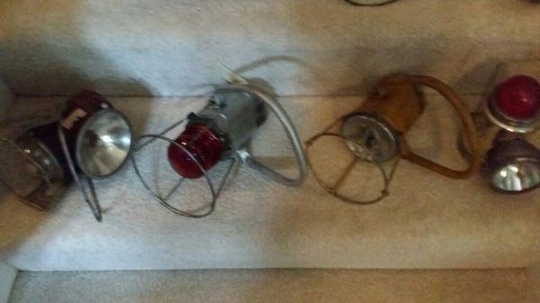 Four Antique Railroad Lanterns