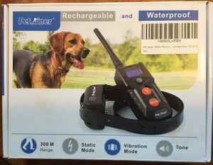 Petainer Rechargeable and Waterproof Training Collar System for Sale in Vienna, VA