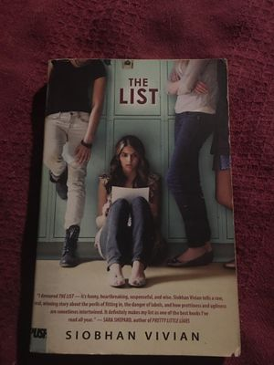 The List by Siobhan Vivian for Sale in Canton, NC