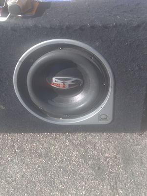 """ROCKFORD FOSGATE 10"""" SUB AND BOX. HITS HARD. OLD SCHOOL for Sale in Lakewood, CO"""