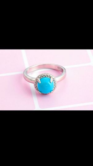 925 UNiQue BLue StoNe Ball CZ RiNg for Sale in Bountiful, UT