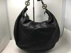 Gucci Guccissima black monogram leather shoulder bag for Sale in Tampa, FL