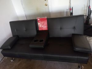 (Brand New)Leather Sofa/Futon for Sale in Hazelwood, MO