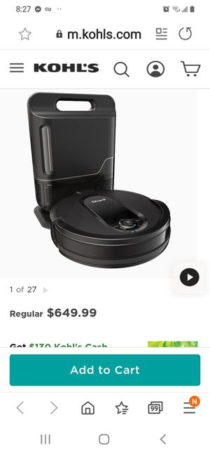 Irobot vacuum cleaner new for Sale in Brooklyn Center, MN