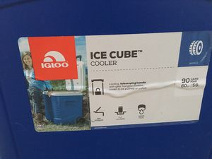 Blue Igloo Ice Cube 60 Quart Roller Cooler for Sale in Austin, TX