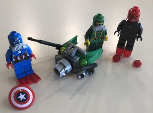 LEGO Minifigure Scuba Captain America, Hydra, & Iron Skull for Sale in Safety Harbor, FL