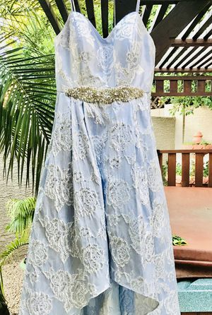 Dillard's Baby Blue w/ Crystal Bodice, Sweetheart Neckline Strapless Prom Dress or Wedding Dress Size: 8 for Sale in Lorton, VA