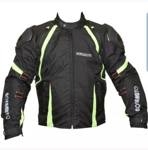 Motorcycle cordura fabric jacket with reflector for Sale in Hawthorne, CA