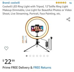 12 inch Ring Light for Sale in Tacoma, WA