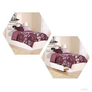 NEW!! White Twin Storage Bed w/ Bookcase Headboard, white twin bed frame, twin bed, storage bed, bookcase headboard for Sale in Phoenix, AZ