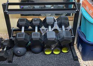 Two Tier Dumbbell Rack (Dumbbells not included) for Sale in Irvine, CA