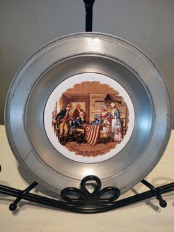 Vintage The First Stars And Stripes Pewter Plate for Sale in Pleasant Hill,  IA
