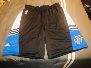 """NWOT ADIDAS NBA AUTHENTIC BLACK ORLANDO MAGIC PREGAME GAME SHORTS SIZE 3XL+2"""" for Sale in Chicago, IL"""