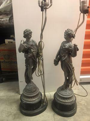 Vintage Pewter Lamps for Sale in Rockville, MD