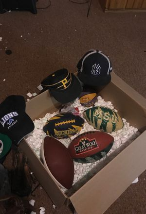 4 collectible Football and baseball stuff. 3 baseball mite varies sizes. for Sale in Sterling Heights, MI