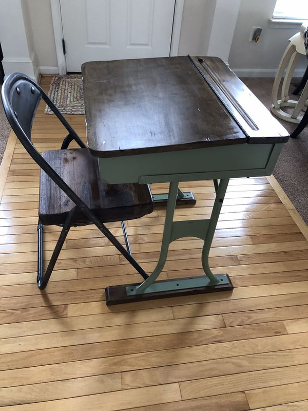$50 - Vintage Replica School Desk and Chair