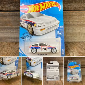 REPACKAGED CUSTOM 1/64 1:64 Honda CRX (Lowered + camber with premium 6-spoke white wheels) for Sale in Santa Ana, CA