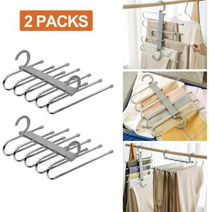 Pants Hangers 5 Layers Closet Organizer for Sale in Pomona, CA