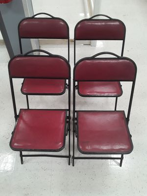 $95 4 vintage foul up chairs from the 1940s in excellent shape for Sale in East Point, GA