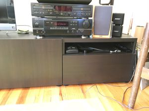 """IKEA """"Besta"""" TV stand / Stereo rack / console with adjustable shelves, drawer and cubby for Sale in Seattle, WA"""