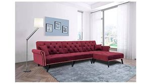 Julyfox burgundy wine red sectional couch for Sale in North Tonawanda, NY