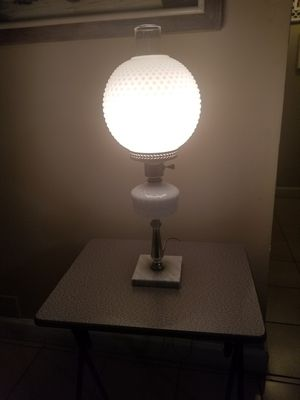 Beautiful table lamp milk glass marmol base for Sale in Miami, FL