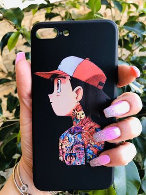Brand new cool iphone 7+ or 8+ PLUS case cover rubber Goku dragon ball z DBZ super saiyan anime for Sale in San Bernardino, CA