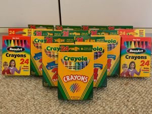 Crayons new 12 boxes for Sale in Raleigh, NC
