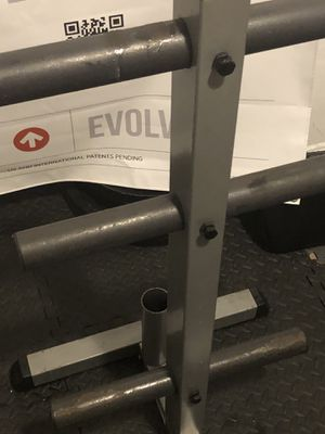 Body solid weight tree for Olympic Barbell plates for Sale in Queens, NY