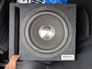 MOREL SUBWOOFER - 10inch CUSTOM BOX for Sale in Rockville, MD