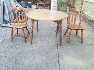 Wooden kitchen table set for Sale in North Tonawanda, NY