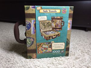 MasterPieces Safe Travels 1000 Piece Suitcase Jigsaw Puzzle for Sale in Nashville, TN