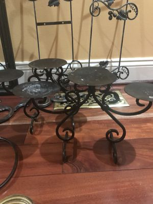 Iron candle stands 2 for $7 for Sale in Ashburn, VA