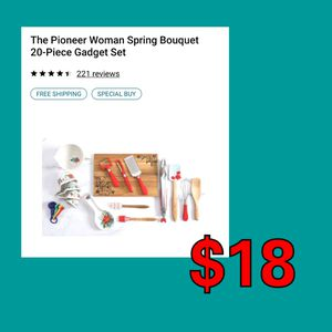 NEW Pioneer Woman 20 PC Kitchen Utensil Gadget Set: njft hsewres for Sale in Burlington, NJ