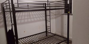 Black Metal Full-Over-Full Bunk Bed Frame for Sale in Federal Way, WA