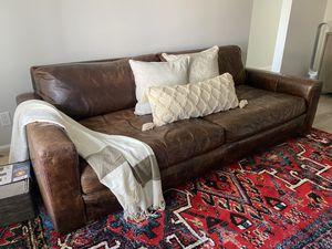 8' Maxwell Leather Sofa (Restoration Hardware) for Sale in Coronado, CA