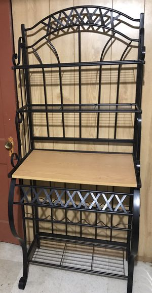 "baker rack with wines holders 66"" H x 16 1/2"" W x 27 1/2"" L for Sale in Arlington, VA"