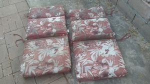 Free set pair of outdoor wooden patio garden Adirondack cushions for Sale in La Mirada, CA
