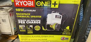 Ryobi backpack sprayer with battery and charger for Sale in Gaithersburg, MD