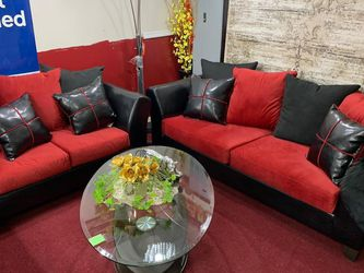Sofa & Loveseat Elegance Microfiber With All Pillows for Sale in Lilburn,  GA