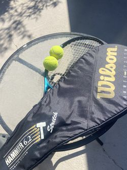 Tennis Racket, Case, and Balls for Sale in Santa Ana,  CA