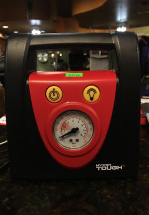 Hyper Tough Air Compressor (With Light and Cigarette Lighter) for Sale in San Antonio, TX