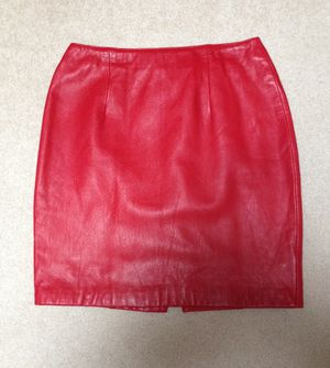 Red Leather Skirt for Sale in Fairfax, VA