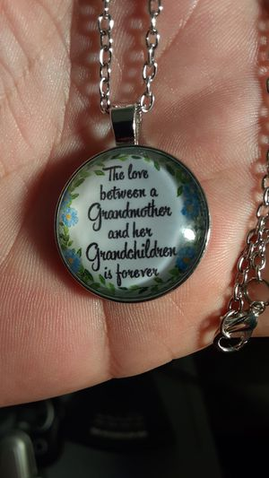 silver necklace with pendant for a grandchildren for Sale in New Port Richey, FL