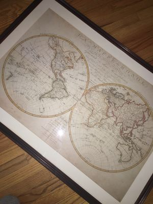 Really nice antique world map for Sale in Chicago, IL