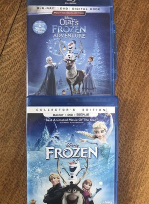 Frozen 1 and 2 all for $20, Disney marvel Harry Potter DC movies Bluray and dvd collectibles for Sale in Everett, WA