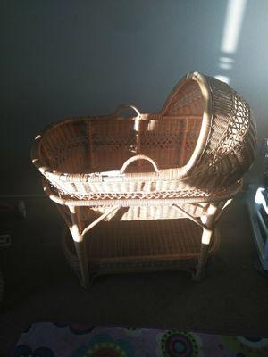 Wicker baby bassinet for Sale in Glendale, AZ