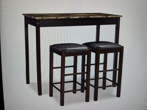 Brand New (in the box) Linon Tavern 3-Piece Table Set with Faux Marble Top in Espresso for Sale in Cincinnati, OH