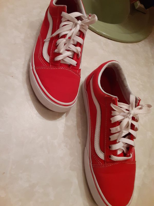 Red vans size 7