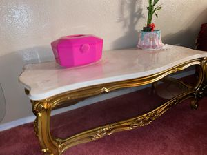 Antique style Marble Coffee Table and Side Tables for Sale in San Bruno, CA